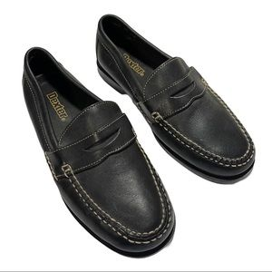 DEXTER black leather penny loafers Mens 8 2W